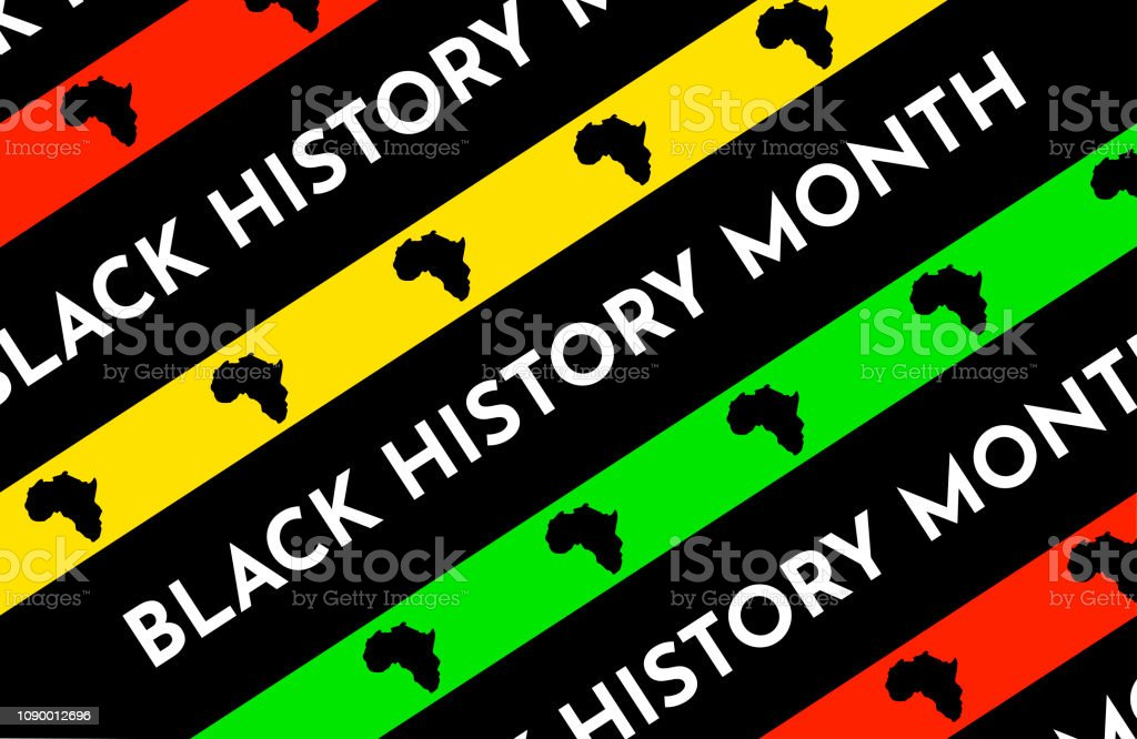 Vector illustration background with black and red, yellow, green stripes. Black history month. vector art illustration