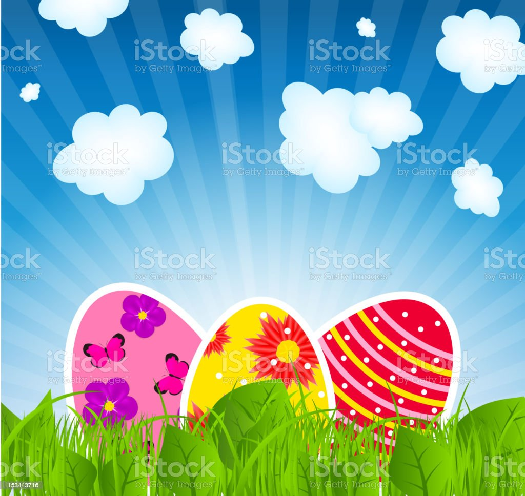 Vector illustration background with  easter eggs royalty-free vector illustration background with easter eggs stock vector art & more images of backgrounds