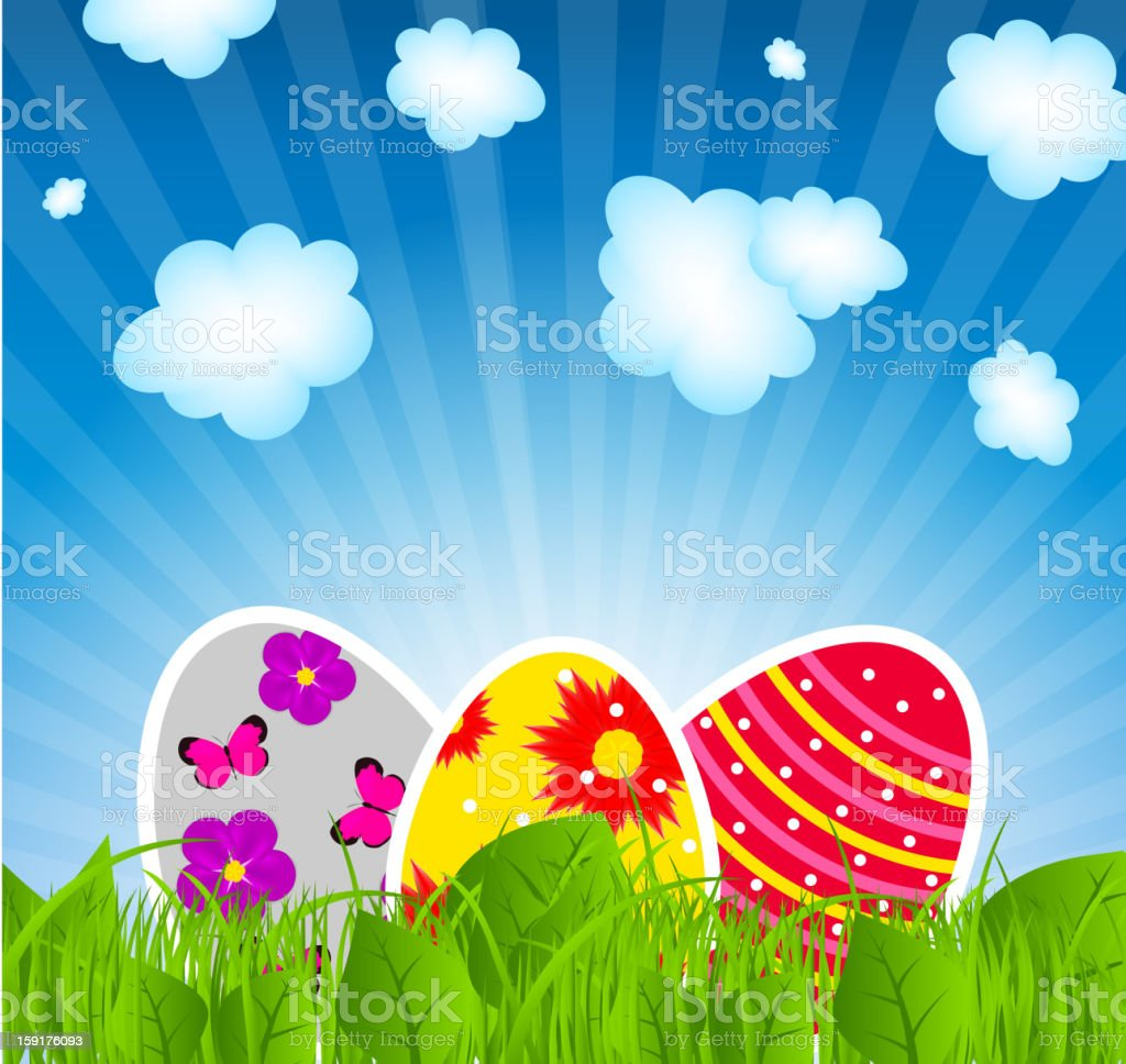 Vector illustration background with easter eggs royalty-free vector illustration background with easter eggs stock vector art & more images of anniversary