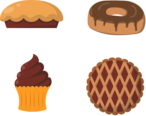 Vector illustration bakery products.