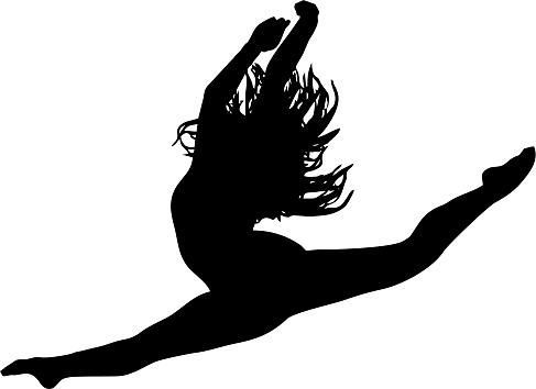Vector Illustration: Ballet Dancer Leaping
