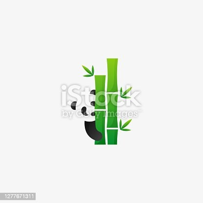 istock Vector Illustration Bamboo Negative Space Style. 1277671311