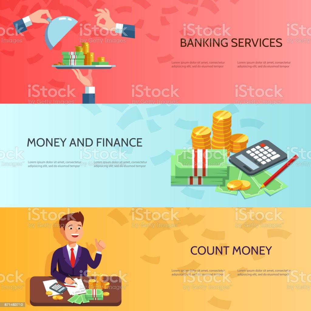 Vector illustration banking concept vector art illustration