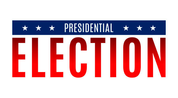 Vector illustration banner. Presidential election in 2020. Red, blue colors, white background and stars Vector illustration banner. Presidential election in 2020. Red, blue colors, white background and stars. presidential candidate stock illustrations