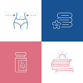 Vector Illustration Beauty and SPA Related Thin Line Icons. Editable Vector Stroke.