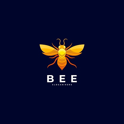 Vector Illustration Bee Colorful Style.