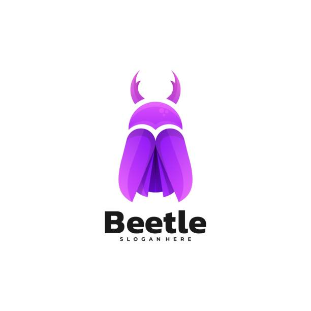 Vector Illustration Beetle Gradient Colorful Style. Vector Illustration Beetle Gradient Colorful Style. macrophotography stock illustrations