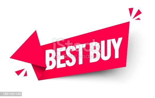 istock Vector Illustration Best Buy Arrow Label 1331431140