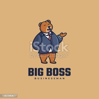 istock Vector Illustration Big Boss Simple Mascot Style. 1262580577