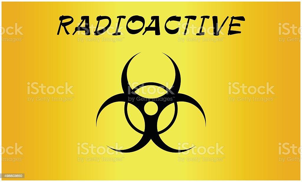 Vector Illustration Bio Hazard Sign Danger Symbol Warning Stock