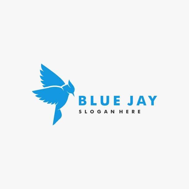 Vector Illustration Bird Blue Jay Silhouette Style. Vector Illustration Bird Blue Jay Silhouette Style. songbird stock illustrations