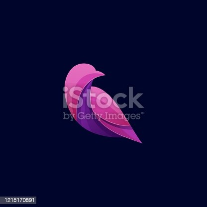 Vector Illustration Bird Colorful Style.