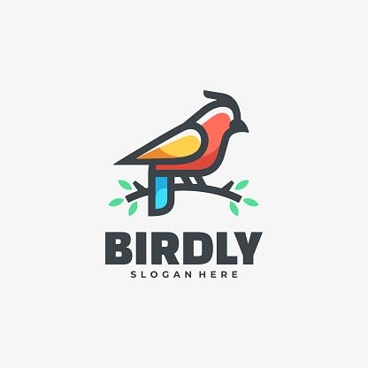 Vector Illustration Bird Simple Mascot Style.