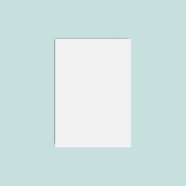 Vektor-Illustration leere weiße Vorlage Papier – Vektorgrafik
