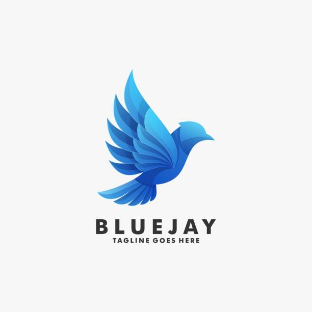 Vector Illustration Blue Jay Gradient Colorful Style. Vector Illustration Blue Jay Gradient Colorful Style. animal body part stock illustrations