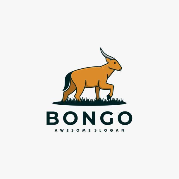 Vector Illustration Bongo cute cartoon. Vector Illustration Bongo cute cartoon. hoofed mammal stock illustrations