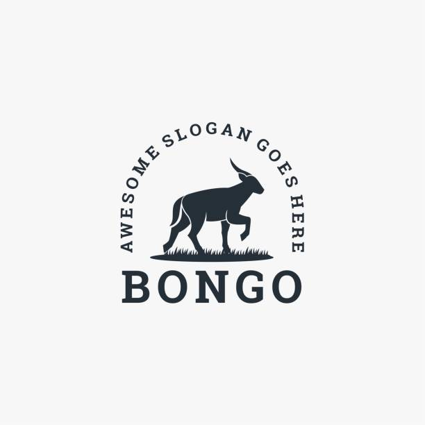Vector Illustration Bongo Gradient Colorful Style. Vector Illustration Bongo Gradient Colorful Style. hoofed mammal stock illustrations