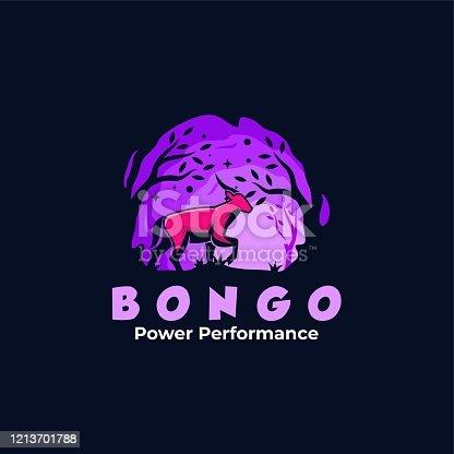 istock Vector Illustration Bongo Mascot Cartoon Style. 1213701788