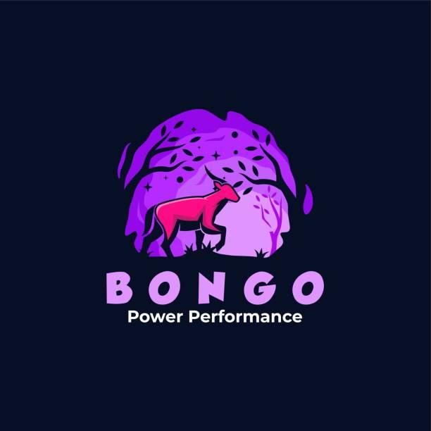 Vector Illustration Bongo Mascot Cartoon Style. Vector Illustration Bongo Mascot Cartoon Style. hoofed mammal stock illustrations