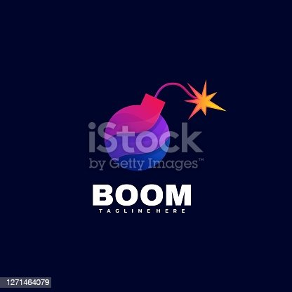 istock Vector Illustration Boom Gradient Colorful Style. 1271464079