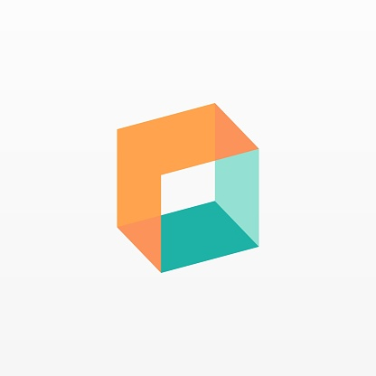 Vector Illustration Box Gradient Colorful Style.