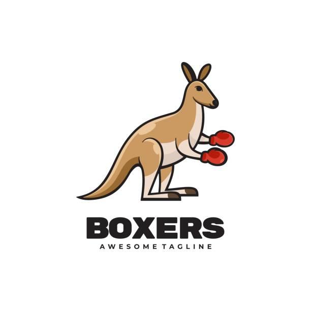 illustrazioni stock, clip art, cartoni animati e icone di tendenza di illustrazione vettoriale boxer stile mascotte semplice. - box name