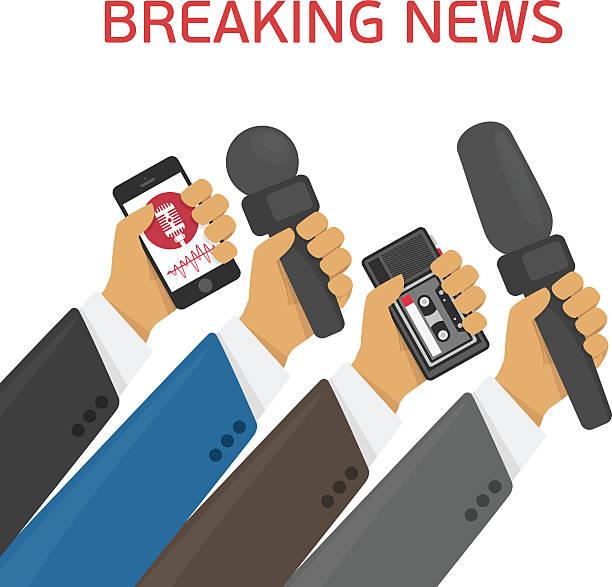 bildbanksillustrationer, clip art samt tecknat material och ikoner med vector illustration breaking news. - paper mass