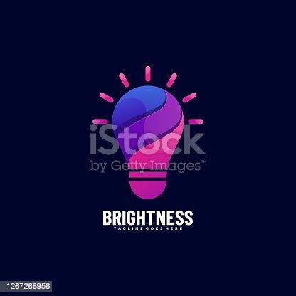 istock Vector Illustration Brightness Gradient Colorful Style. 1267268956