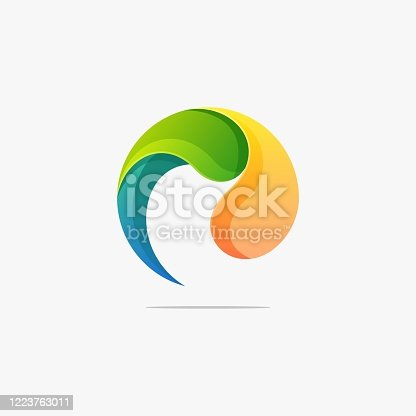 istock Vector Illustration Bubble Color Gradient Colorful Style. 1223763011