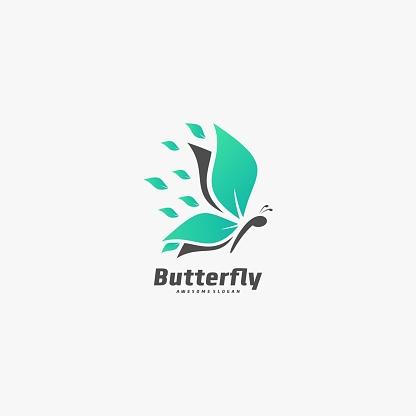 Vector Illustration Butterfly Elegant Silhouette Style.