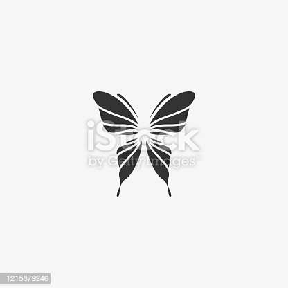 Vector Illustration Butterfly Silhouette Style.