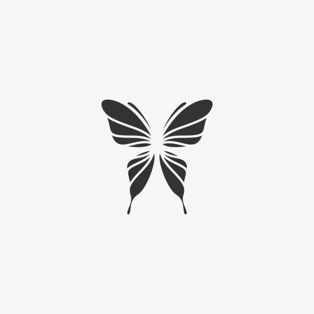 Vector Illustration Butterfly Silhouette Style. Vector Illustration Butterfly Silhouette Style. animal body part stock illustrations