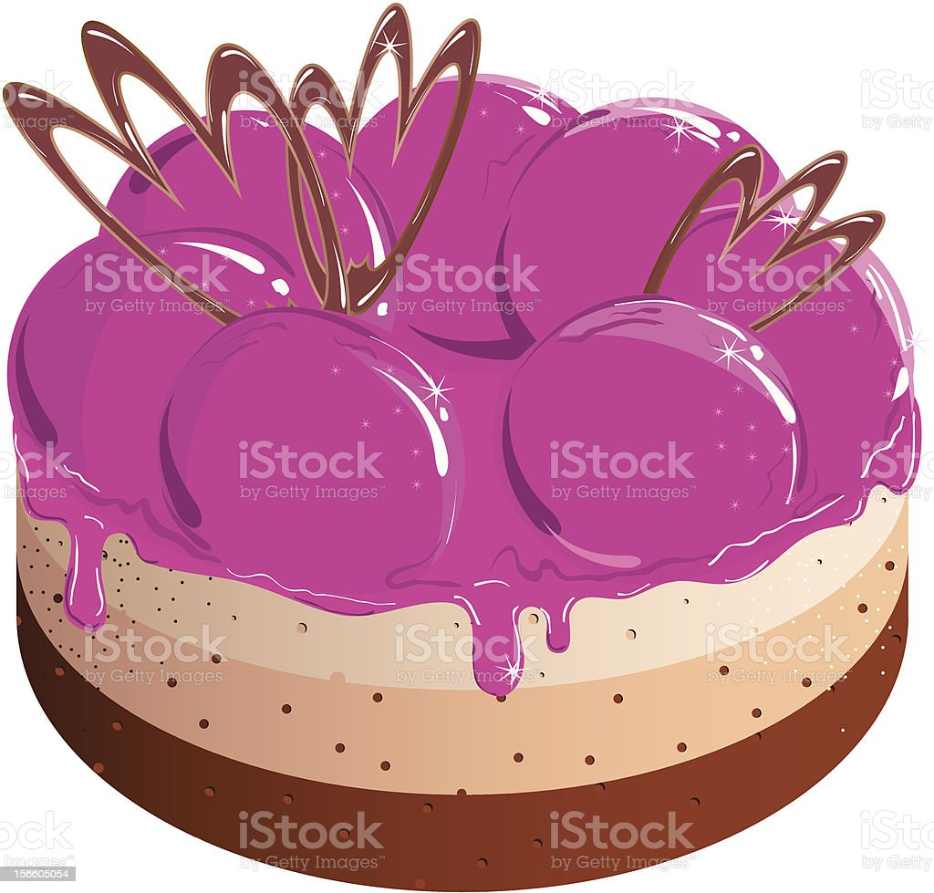 Vector illustration. cake
