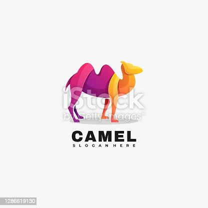 istock Vector Illustration Camel Gradient Colorful Style. 1286619130