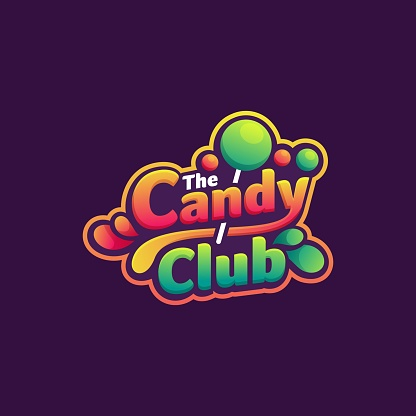 Vector Illustration Candy Club Simple Mascot Style.