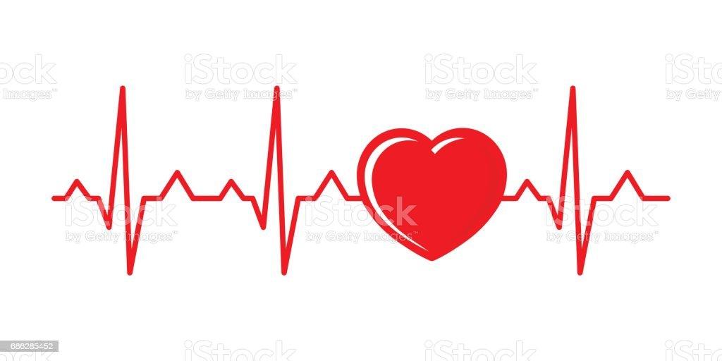 Vector illustration cardiogram vector art illustration