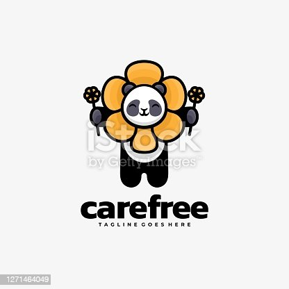 istock Vector Illustration Care Free Simple Mascot Style. 1271464049