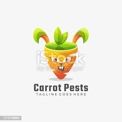 istock Vector Illustration Carrots Pests Gradient Colorful Style. 1273798661