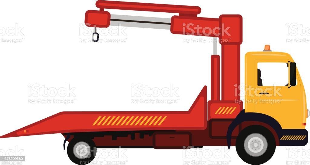 Vector Illustration Cartoon Auto Abschleppwagen Stock Vektor Art und ...