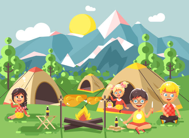 Best Camping Chair Illustrations Royalty Free Vector