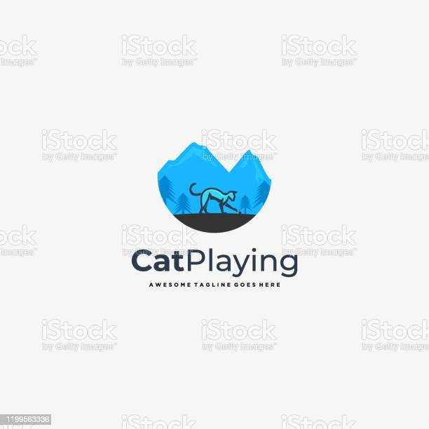 Vector illustration cat plying with landscape vintage badge vector id1199563336?b=1&k=6&m=1199563336&s=612x612&h=azkgqyobox3owgmcrs9koosyvmvgemuv4r 0ankbmmi=