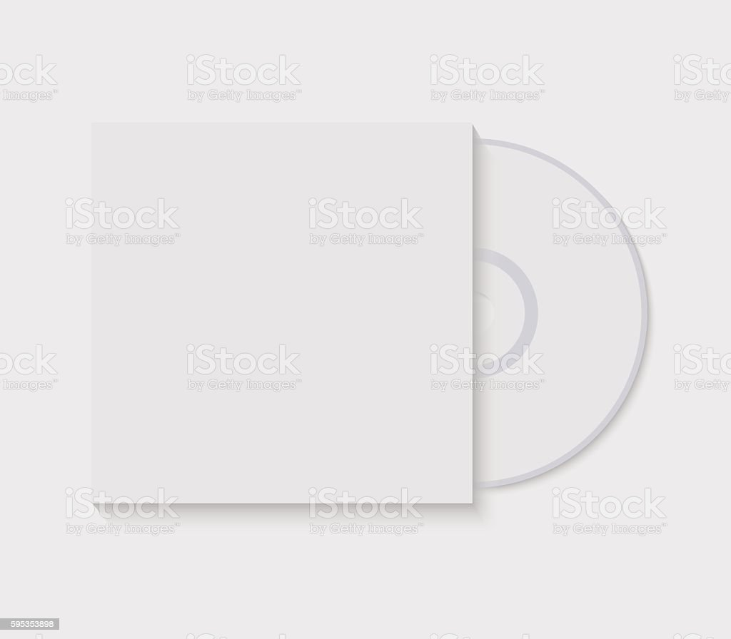 Vector illustration CD with blank cover template vector art illustration