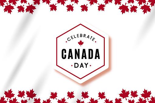Vector illustration: Celebrate canada day vector template design