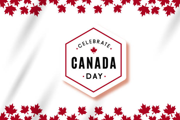 vector illustration: celebrate canada day vector template design - canada day stock illustrations