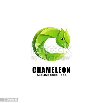 istock Vector Illustration Chameleon Gradient Colorful Style. 1270030346