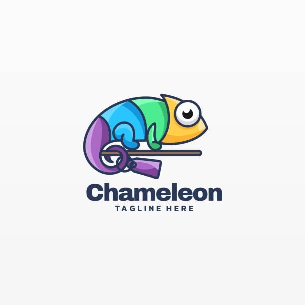 Vector Illustration Chameleon Simple Mascot Style. Vector Illustration Chameleon Simple Mascot Style. reptiles stock illustrations