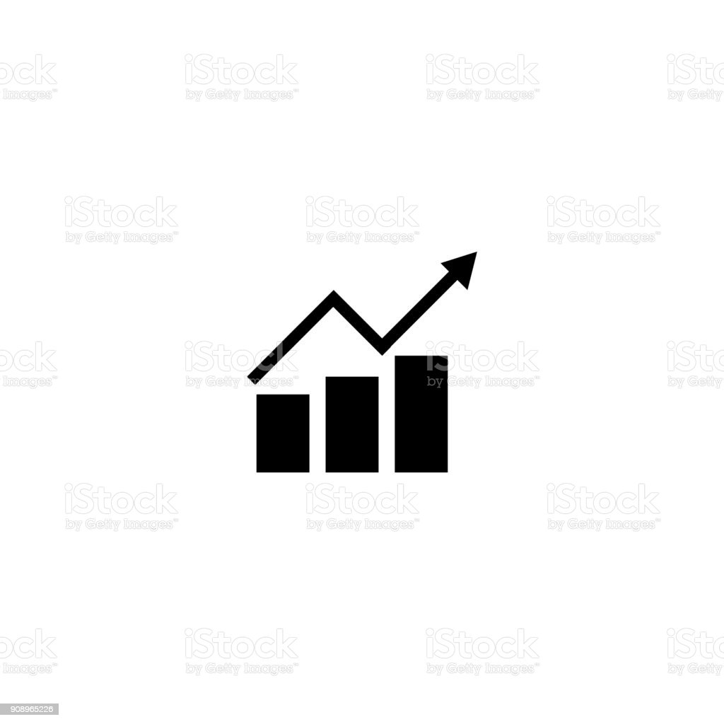 Vector illustration charts and graph icons - Illustration