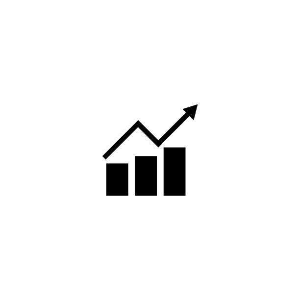 vector illustration charts and graph icons - illustration - przemieszczać się stock illustrations