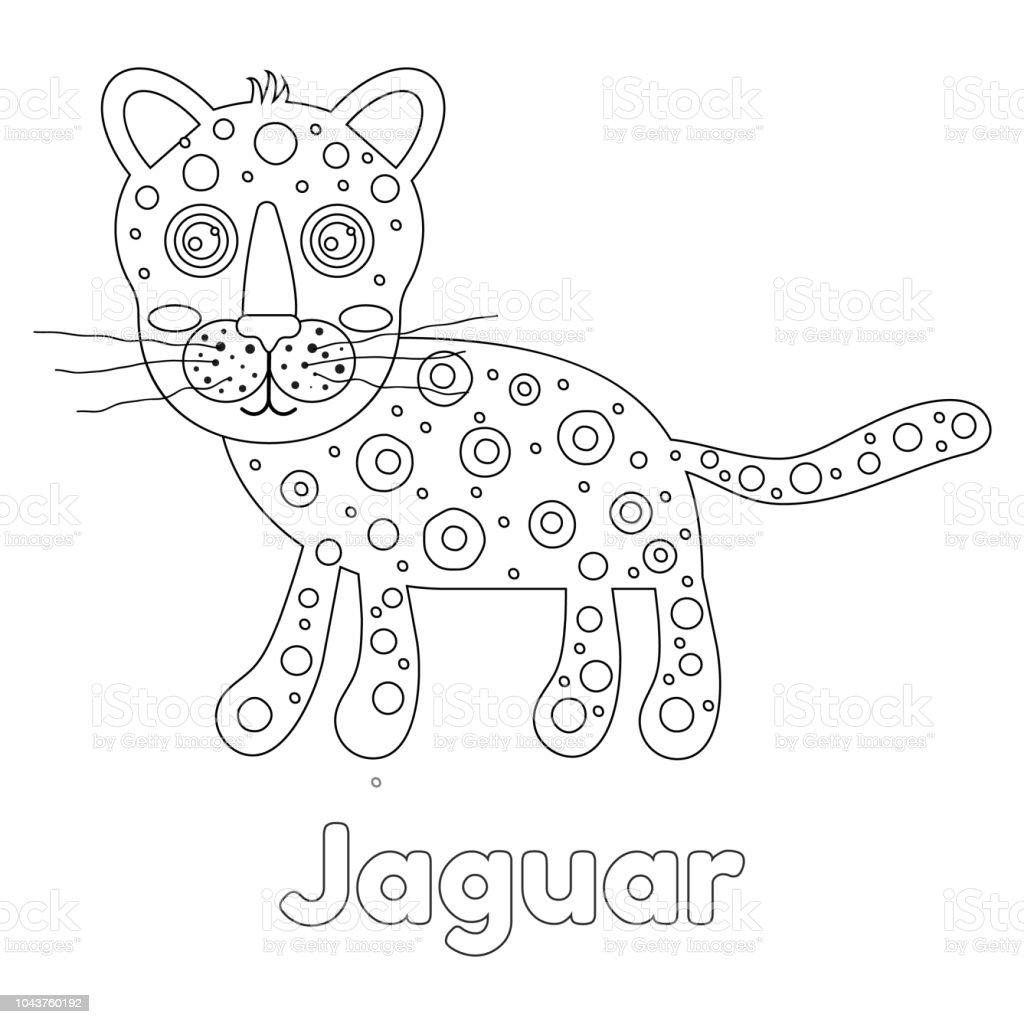 Ilustración De Ilustración De Vector Jaguar De Para Colorear De Los