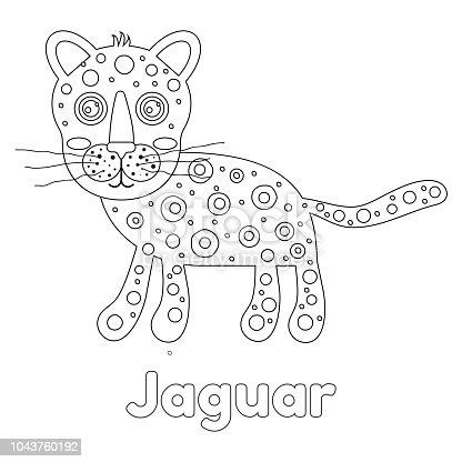 Ilustración de Ilustración De Vector Jaguar De Para Colorear De Los ...